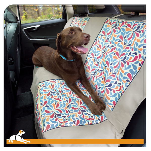 Color Splash Bench Seat Cover by Kurgo