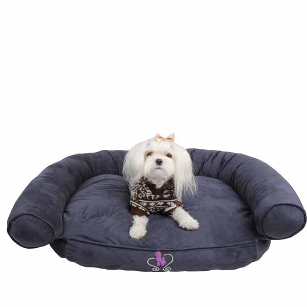 Comfort Zone Dog Bed by Pinkaholic - Navy