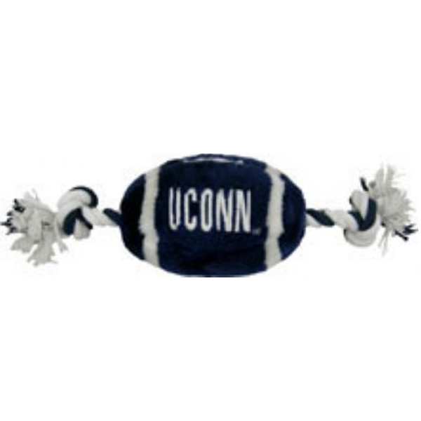 Connecticut Huskies Plush Football Dog Toy