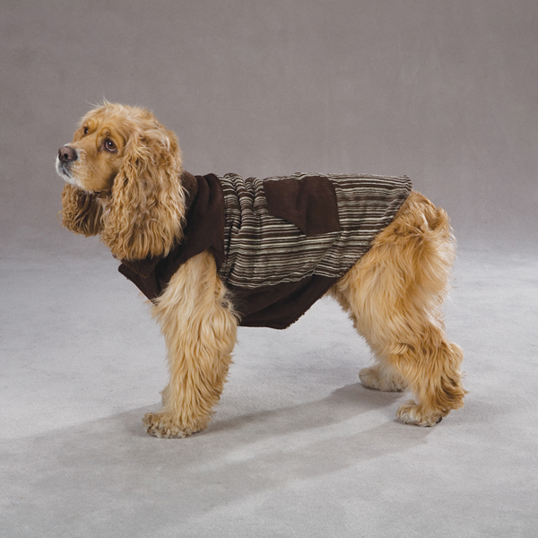 Corduroy Ranch Dog Coat - Chocolate Stripe