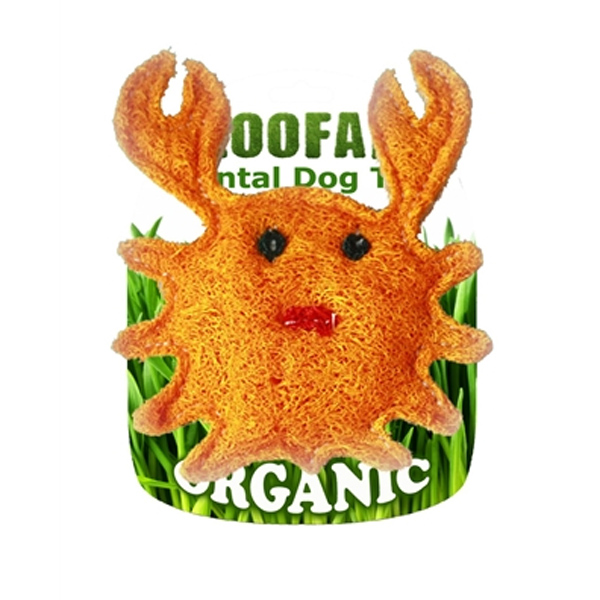 Crab Loofah Dental Dog Toy