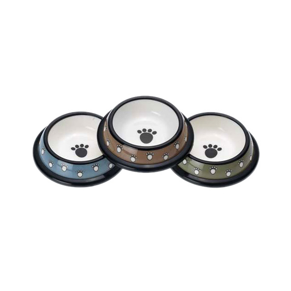 Crazy Paws Designer Plastic Dog Bowl