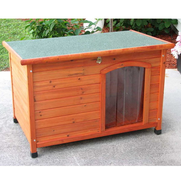 Crown Pet Cedar Dog House with Slant Roof