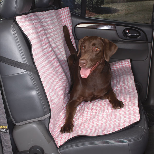 Cruising Companion Houndstooth Car Seat Cover - Pink