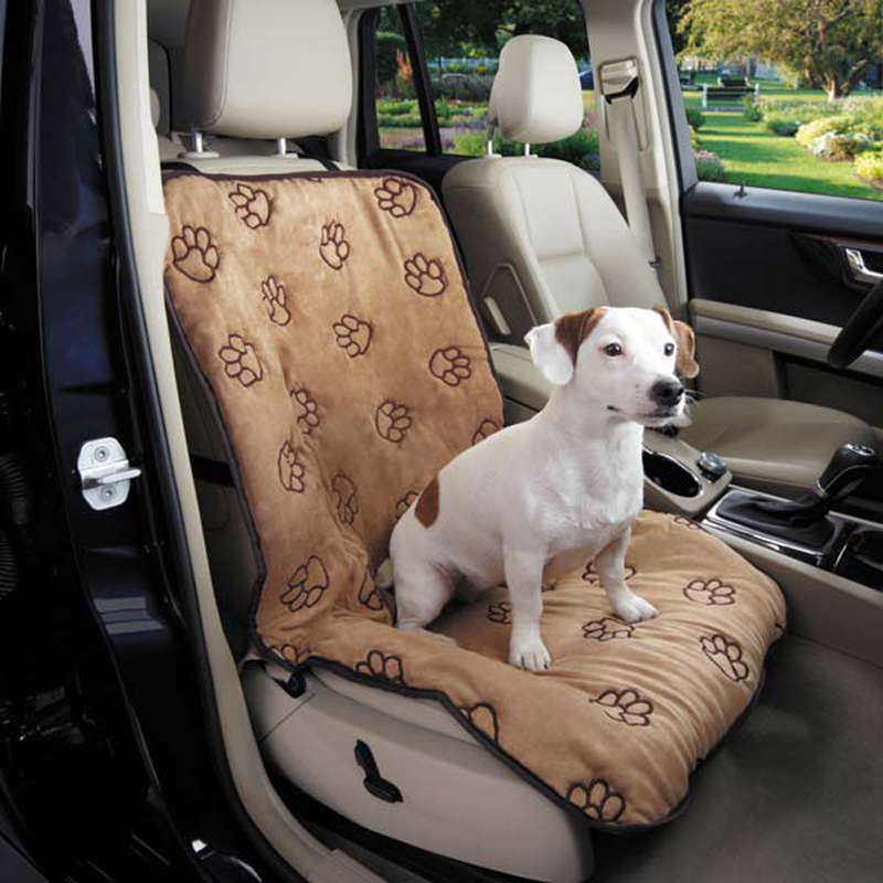 cruising companion pawprint single car seat cover camel with same day shipping baxterboo. Black Bedroom Furniture Sets. Home Design Ideas