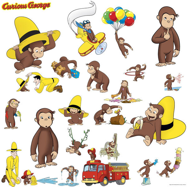 Curious George Bedroom Decor - Wall Decals at ToyStop