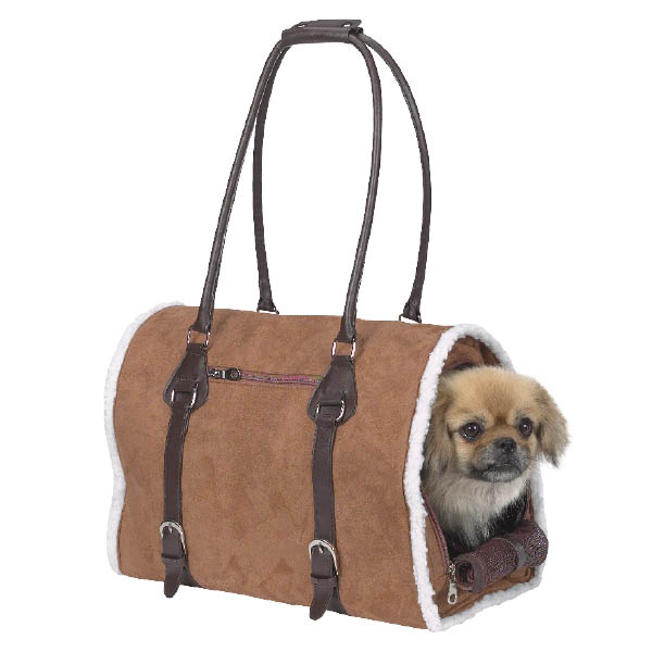 Deluxe Sherpa Pet Carrier by Zack & Zoey - Chestnut Brown