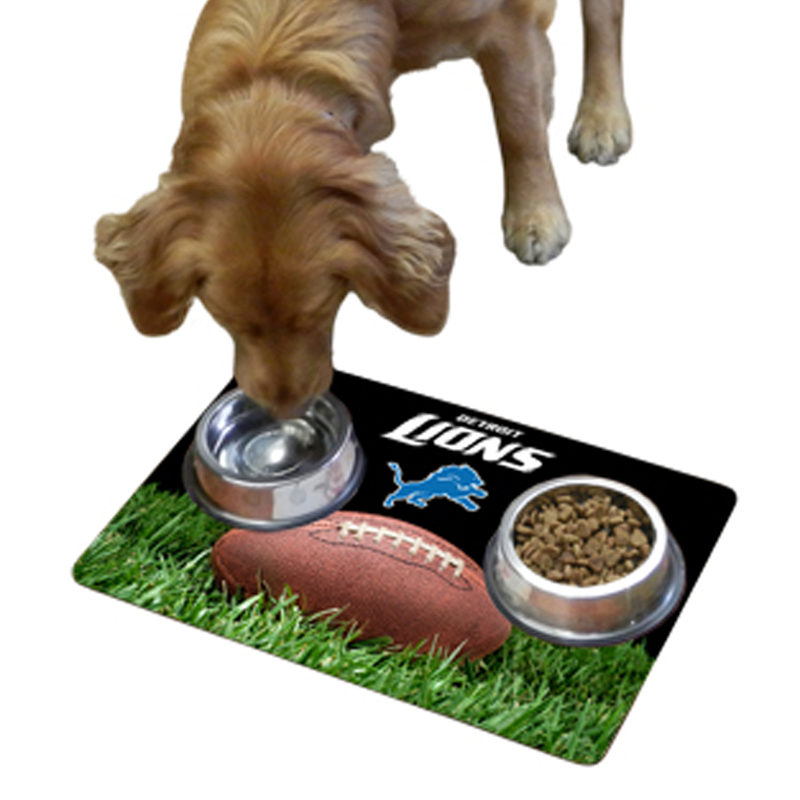 Detroit Lions Pet Bowl Mat