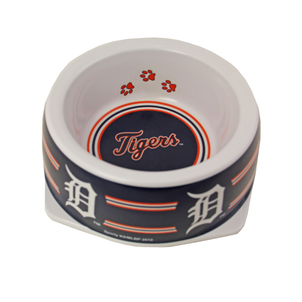 Detroit Tigers Plastic Dog Bowl