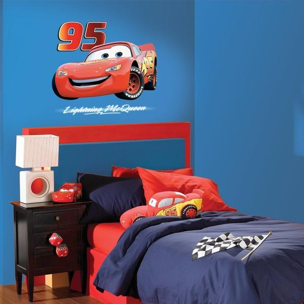Disney Cars Bedroom Decor   Lightning McQueen Giant Wall Sticker At ToyStop Part 65
