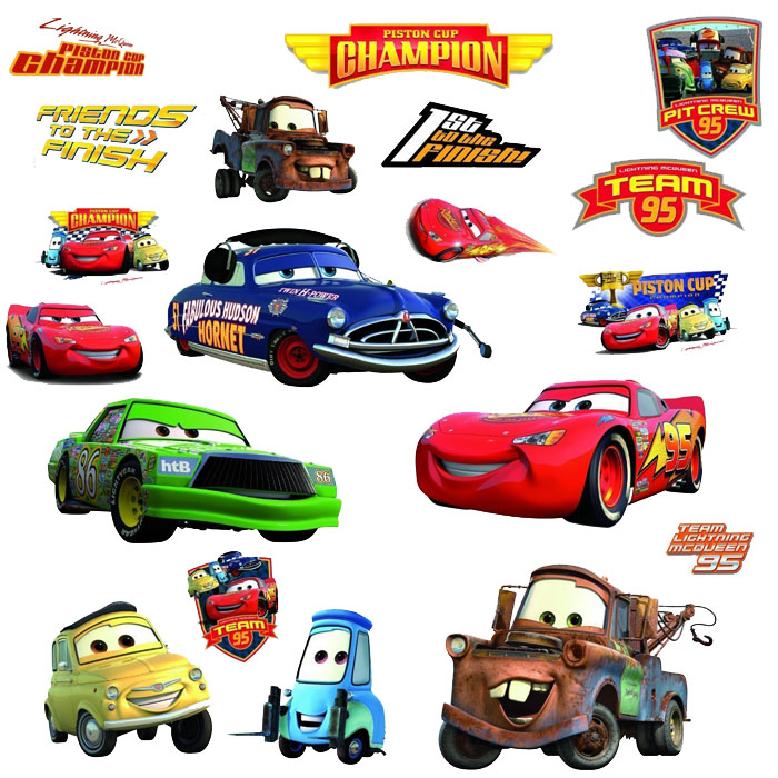 Disney Cars Bedroom Decor Piston Cup Champions Wall Decals At Toystop