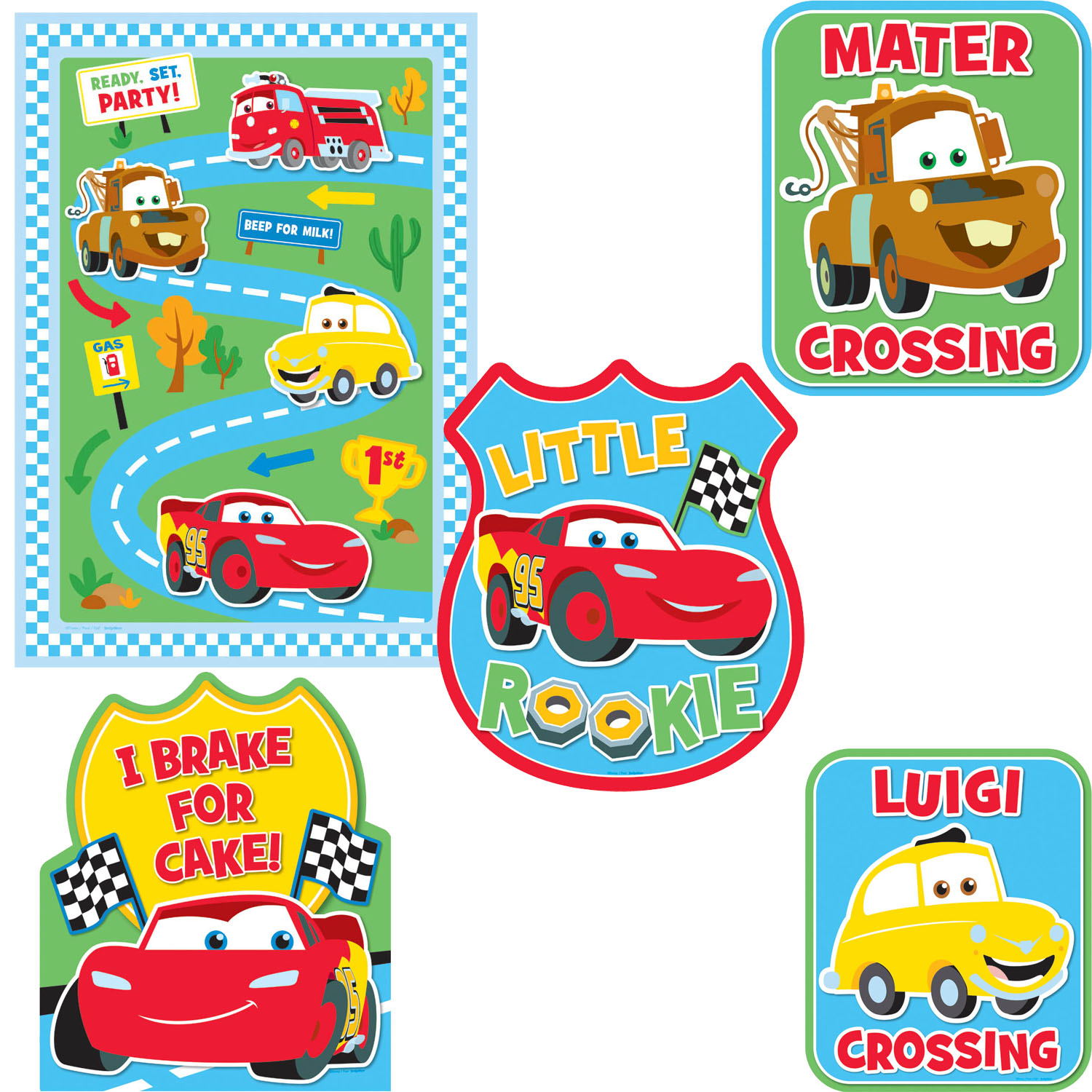 Disney Cars Party Supplies 1st Birthday Decorating Kit at ToyStop