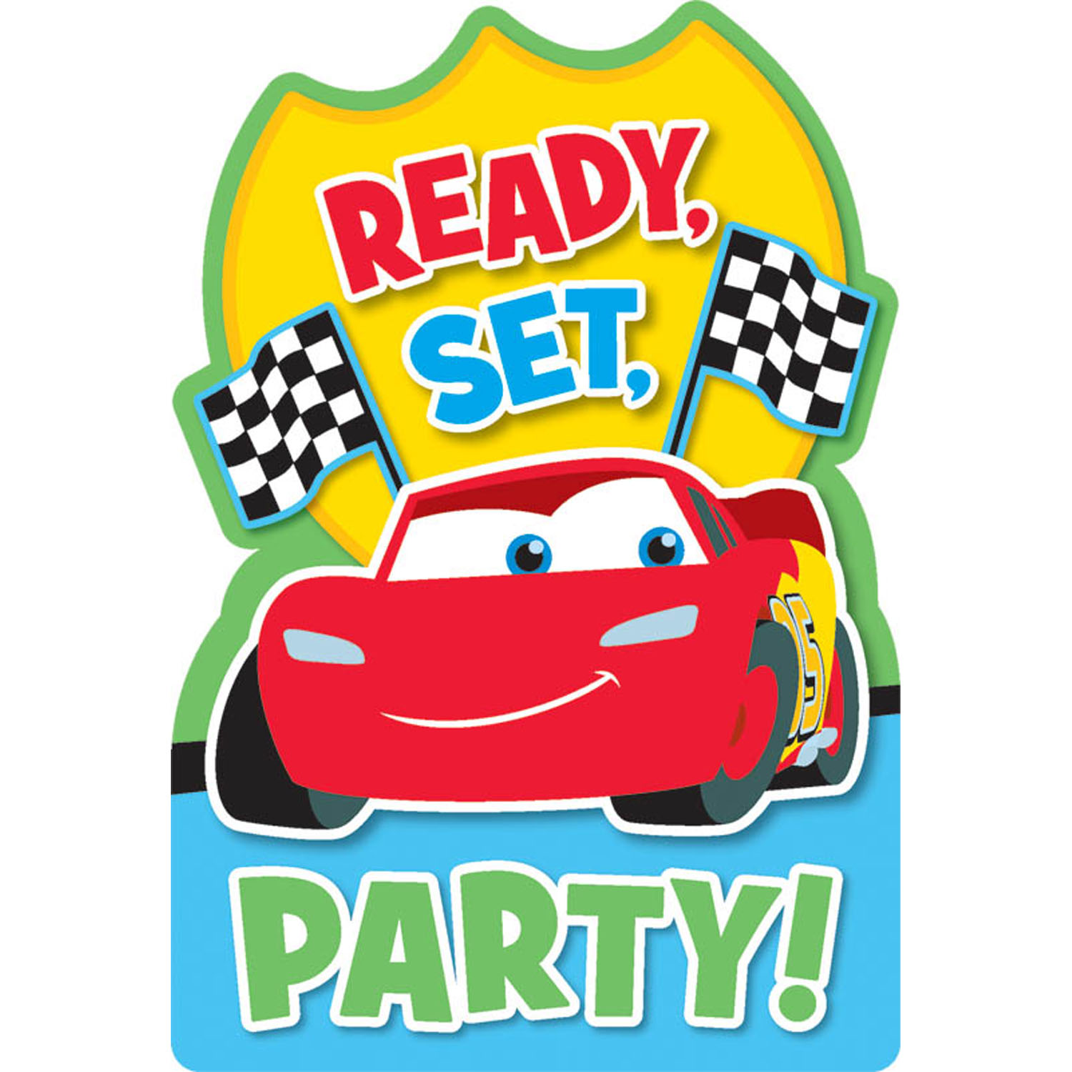 Disney Cars Party Supplies 1st Birthday Postcard Invitations at – Disney Cars Birthday Cards