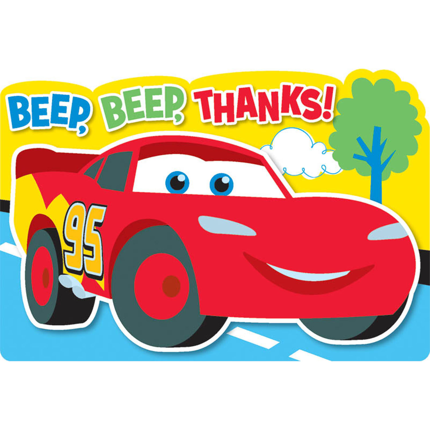 disney cars party supplies 1st birthday thank you notes at toystop