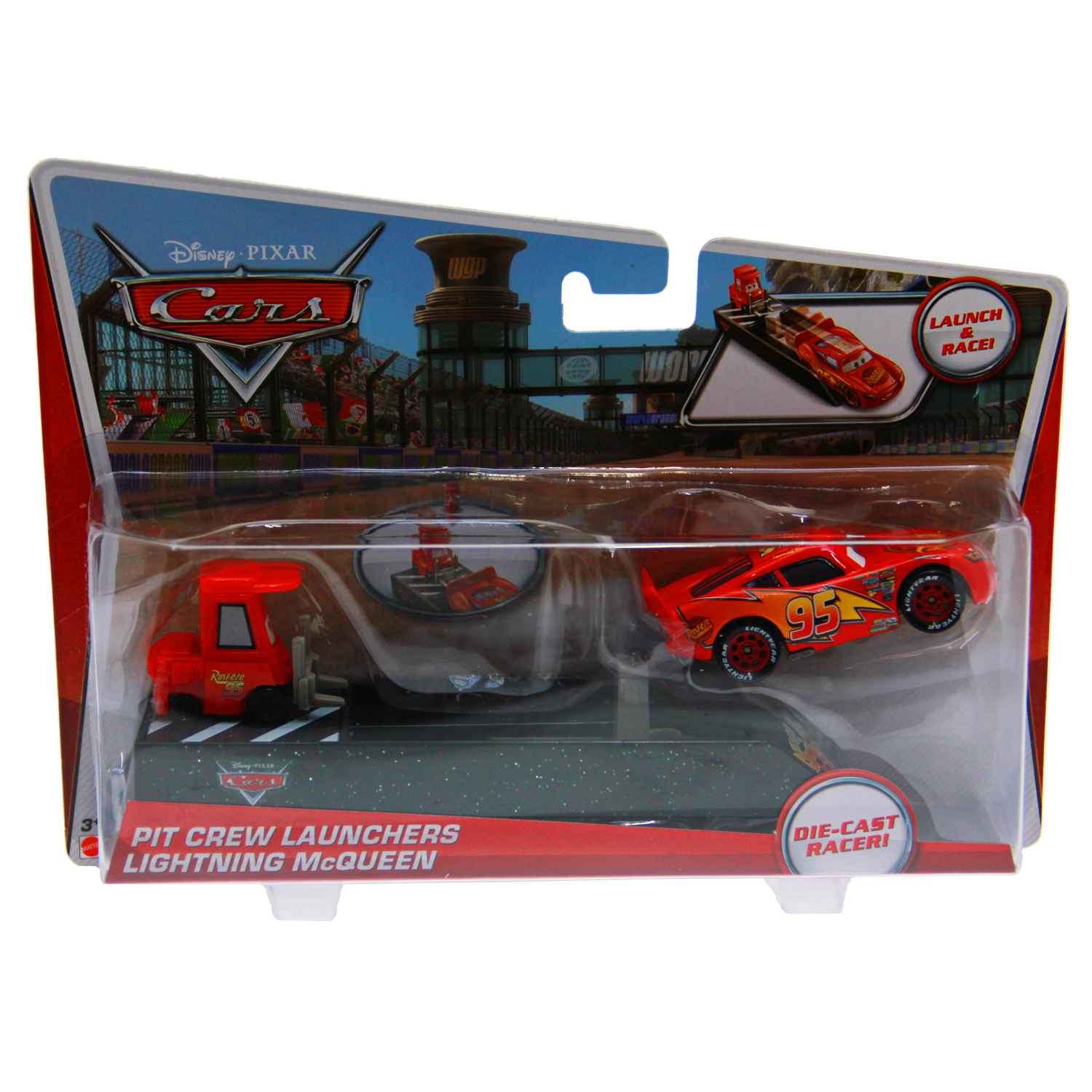 disney cars toys pit crew launcher lightning mcqueen at toystop