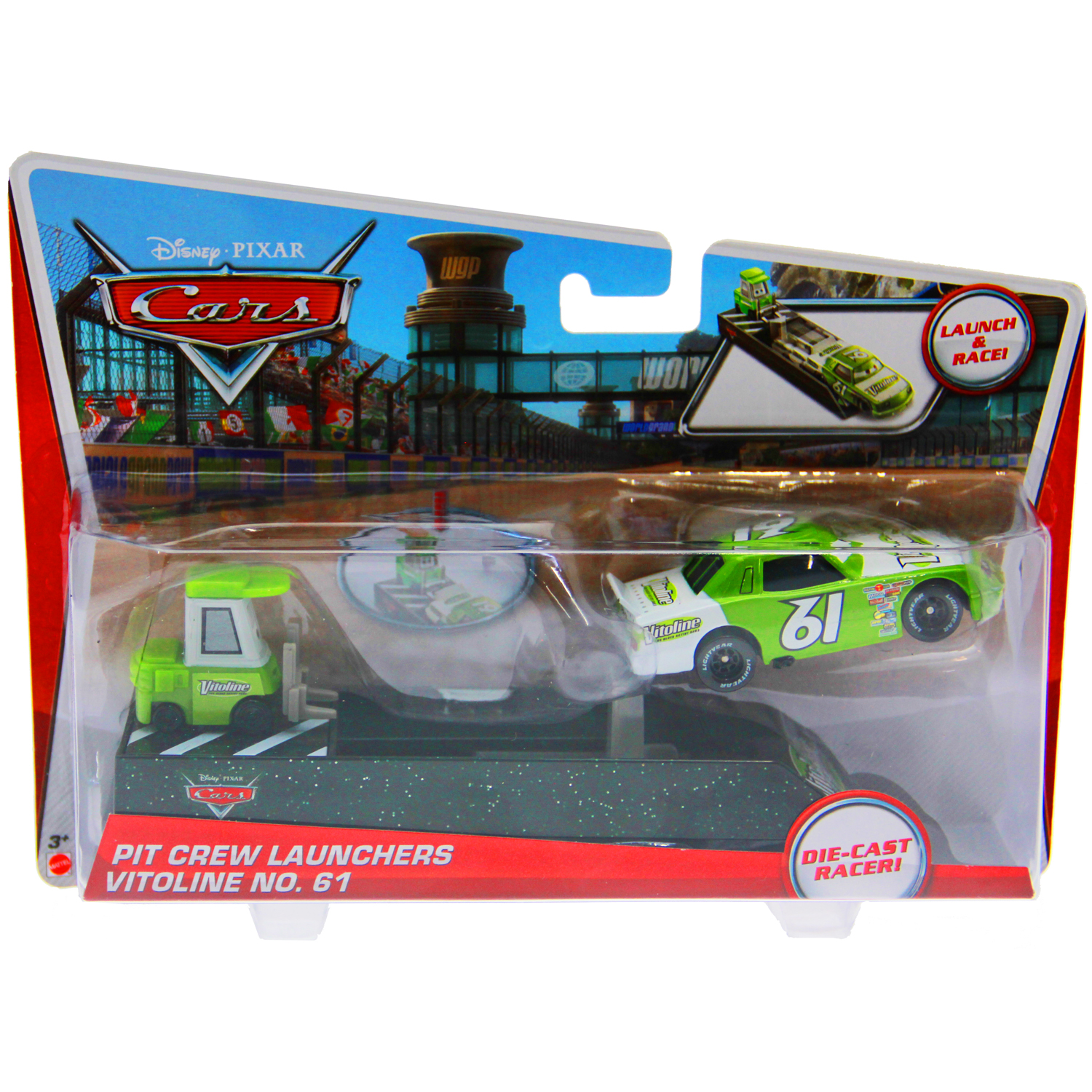 Disney Cars Toys Pit Crew Launcher Vitoline No 61 At Toystop