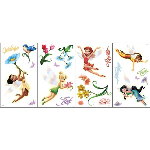 Disney Fairies Bedroom Decor - Fairies & Flowers Wall Stickers at ...