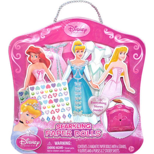 1ad7055b3d2 Disney Princess Toys - Sparkle Paper Doll Armoire