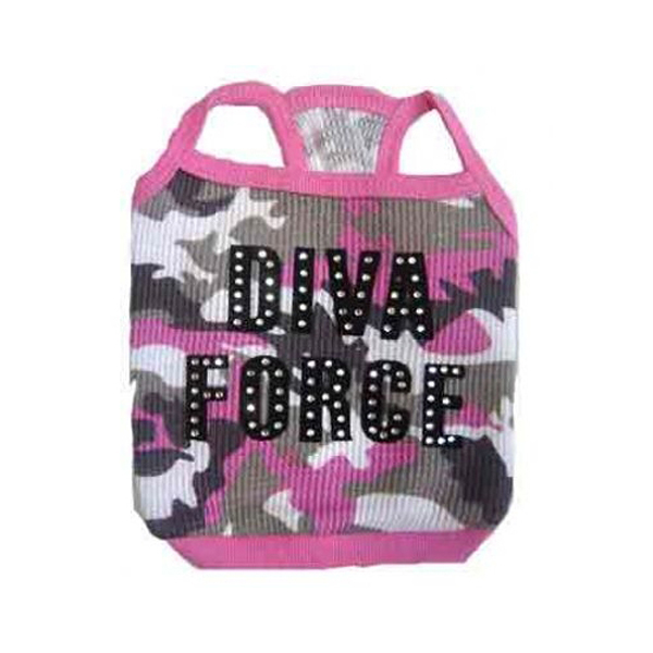 Diva Force Camo Dog Tank Top