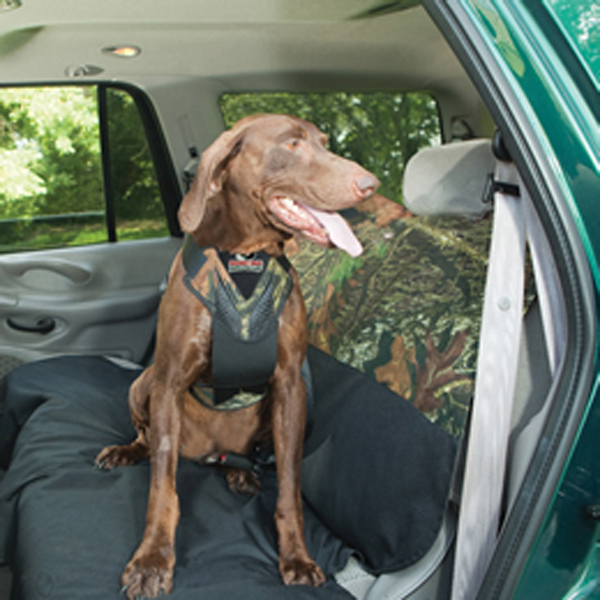 Dog Auto Harness with Tether - Mossy Oak