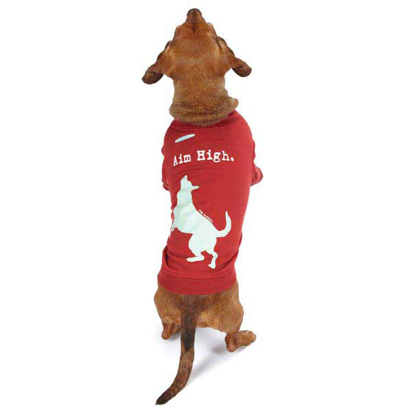 Dog is Good Aim High Dog T-Shirt - Red