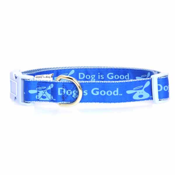 Dog is Good Bolo Dog Collar - Sky Diver Blue