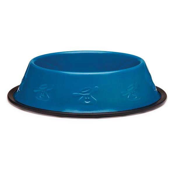 Dog is Good Embossed Stainless Steel Dog Bowl - Ocean
