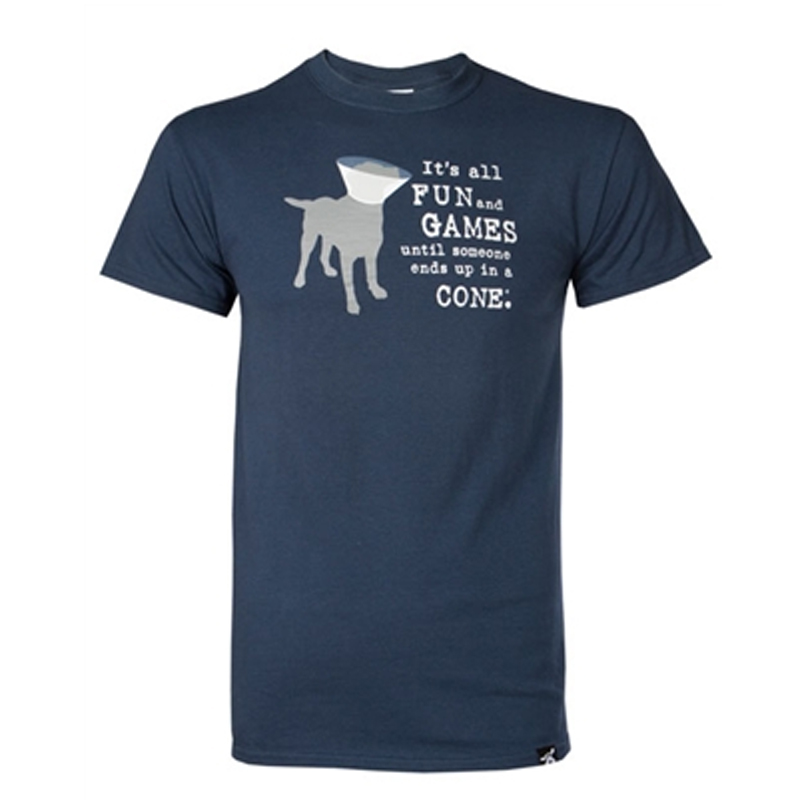 Dog is Good Fun and Games Human T-Shirt - Dusk