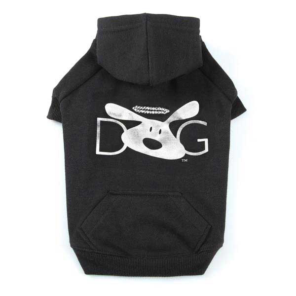 Dog is Good Halo Dog Hoodie - Black