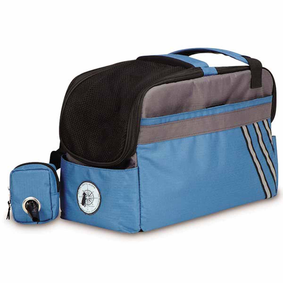 Dog Is Good Never Travel Alone 2 In 1 Dog Carrier Blue