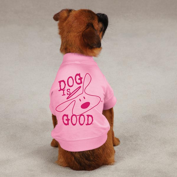 Dog is Good Solid Bolo Dog T-Shirt - Rose Shadow