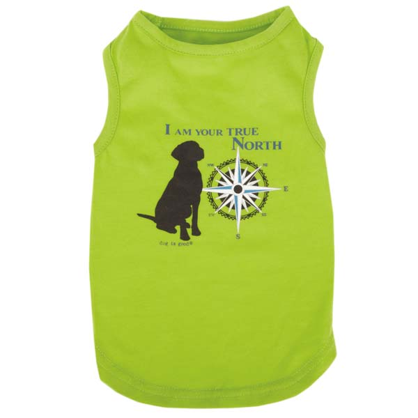 Dog is Good True North Dog Tank Top - Green