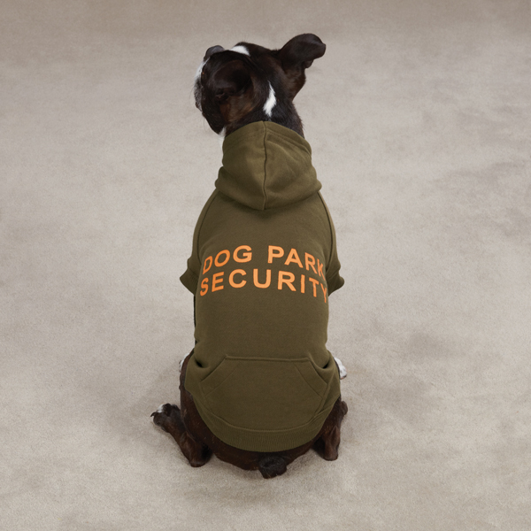 Dog Park Security Dog Hoodie - Chive