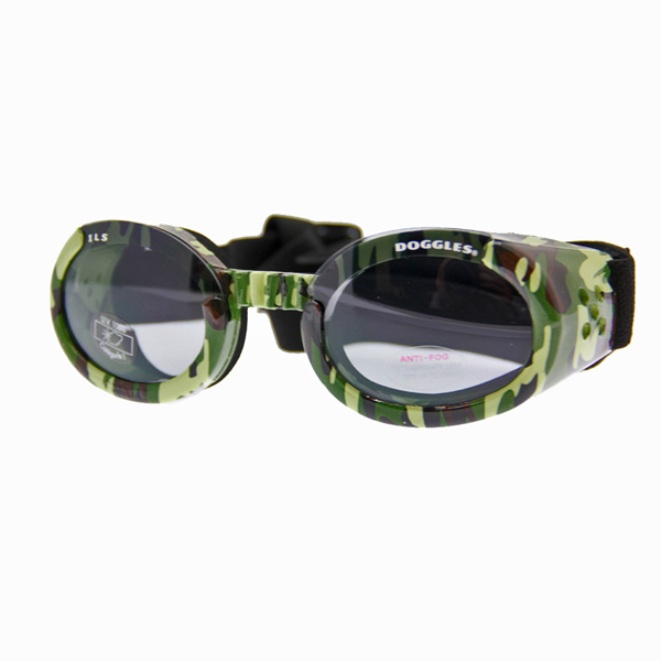 Doggles - ILS Green Camo Frame with Light Smoke Lens