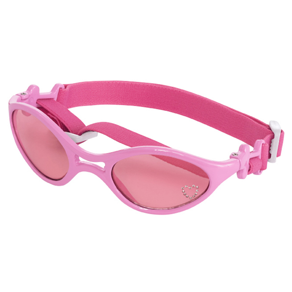 Doggles - K9 Optix Rubber Sunglasses for Dogs - Shiny Pink with Pink Lenses