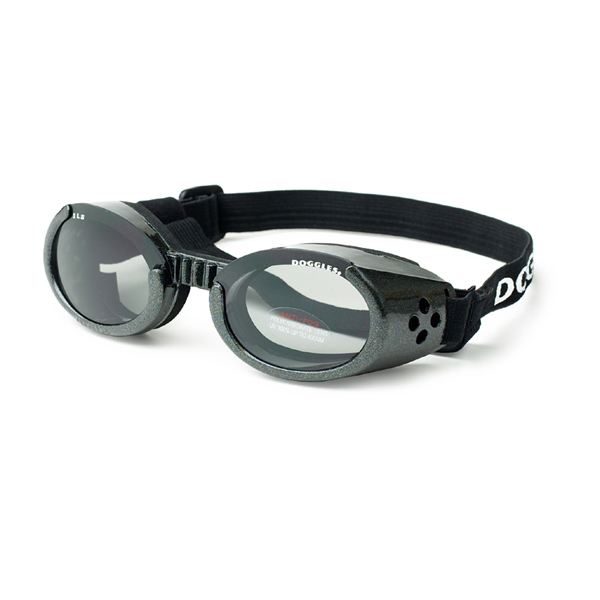Doggles - ILS Metallic Black Frame with Smoke Lens