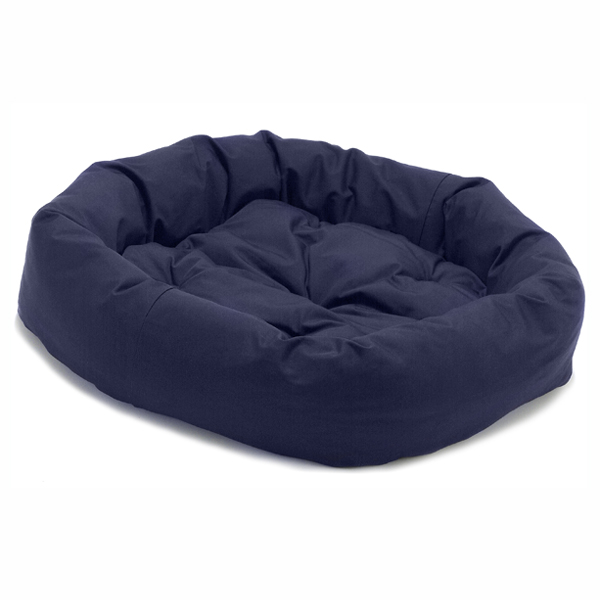 Donut Dog Bed by Dog Gone Smart - Navy