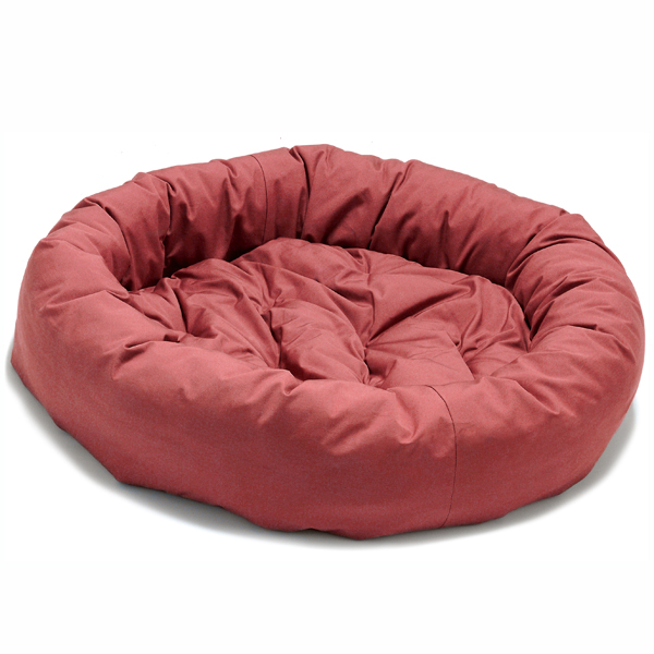 Donut Dog Bed by Dog Gone Smart - Red
