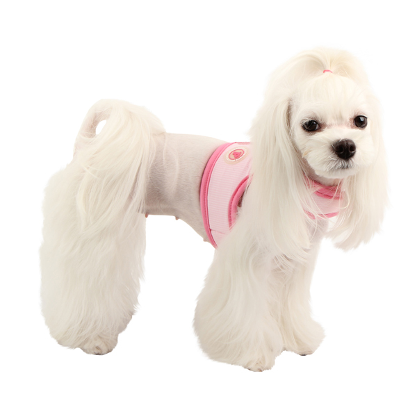 Downy Pinka Dog Harness by Pinkaholic - Pink