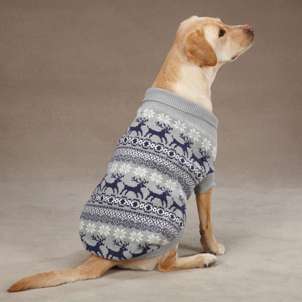 East Side Collection Caribou Creek Dog Sweater - Gray