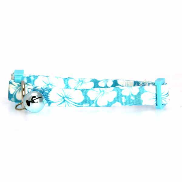 Hibiscus Cat Collar - Blue