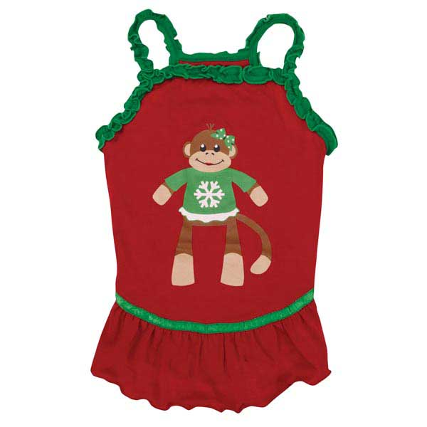 Holiday Monkey Business Dog Dress - Tiff