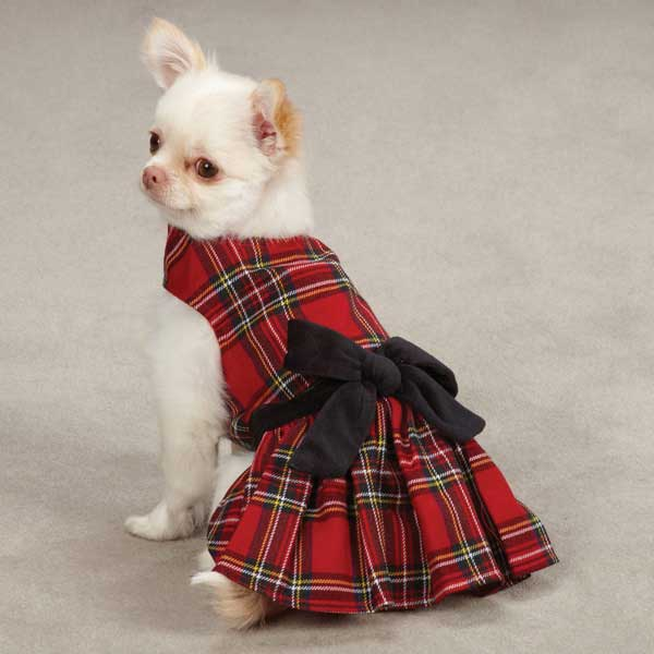 East Side Collection Holiday Tartan Dog Dress  BaxterBoo