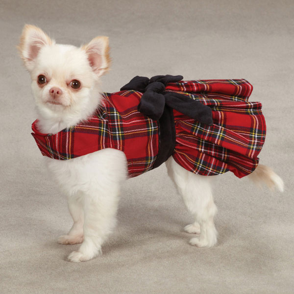 East Side Collection Holiday Tartan Dog Dress | BaxterBoo