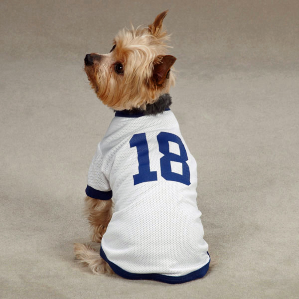 Leader Of The Pack Dog Football Jersey - White