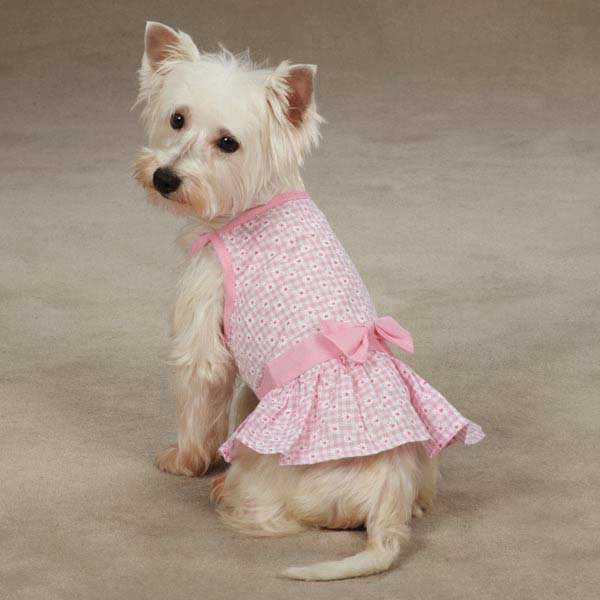 East Side Collection Miss Daisy Dog Dress - Pink
