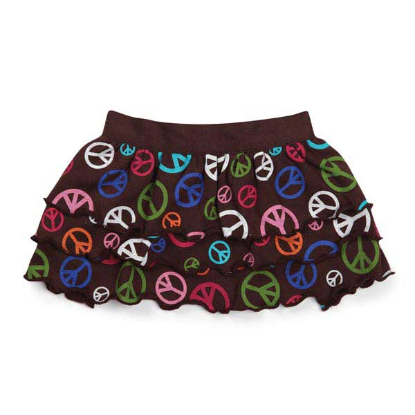 East Side Collection Peace Out Ruffle Dog Skirt