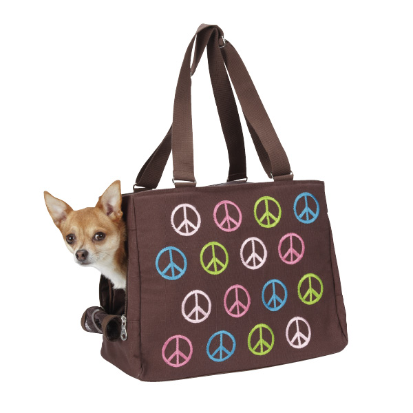 East Side Collection Peace Sign Pet Carrier