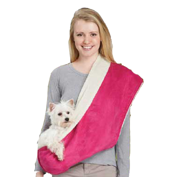 East Side Collection Reversible Sherpa Sling Carrier - Raspberry
