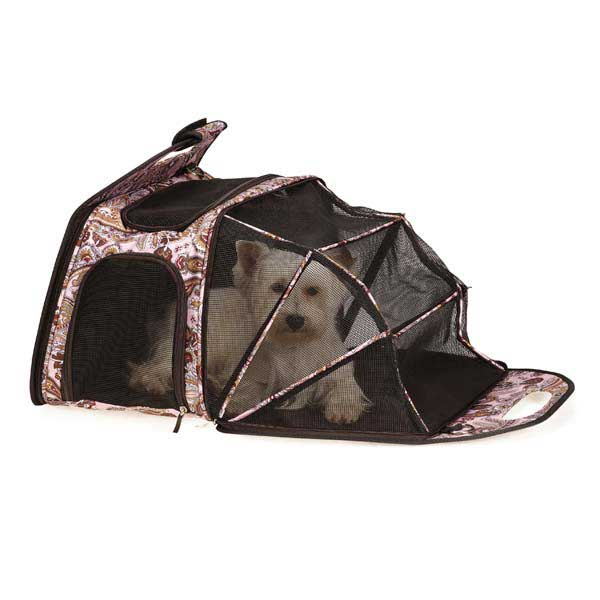 Ultimate Tent Pet Carrier - Pink Paisley